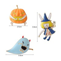2018 Halloween Enamel Witch Pumpkin Ghost Pin Brooch Cute Lapel Brooch Badge Jewelry