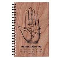 Wood Notebook Palmistry Large