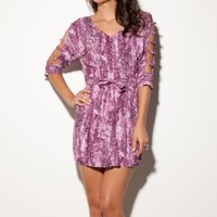 Amazon.com: G by GUESS Arianna Printed Dress: Clothing
