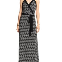 Banana Republic Womens Factory Print Maxi Wrap Dress