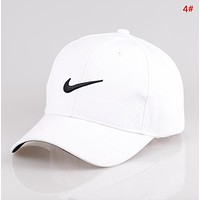 NIKE Fashion New Embroidery Letter Hook Sun Protection Travel Women Men Cap Hat 4#