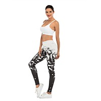 Women Abstract Design  Leggings