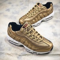 Nike Air Max 95 Prm Gold 918359-70019 Sport Running Shoes - Best Online Sale