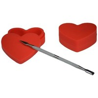Heart Shape Dab Container with Dabber