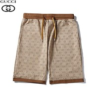 GUCCI Summer Fashion Men Women Casual Print Sport Running Beach Shorts