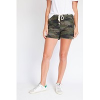 Letters To Juliet Camo Drawstring Shorts