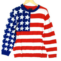 Alex Stevens 'Murica Patriotic USA Flag Ugly Sweater