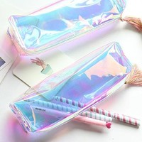 See-Thru Holo Pencil Case