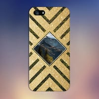 Gold Glitter x Mountain Forest Geometric Design Phone Case for iPhone 6 6 Plus iPhone 5 5s 5c 4 4s Samsung Galaxy s6 s5 s4 & s3 and Note 5 4