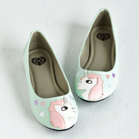 T.U.K. Quirky In Love with Unicorn Flat