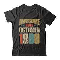 Vintage Retro Awesome Since October 1988 32th Birthday