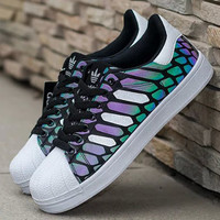 """Adidas"" Fashion Chameleon Shell-toe Flats Sneakers Sport Shoes"
