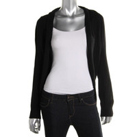 Elie Tahari Womens Open Front Cropped Shrug Sweater