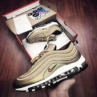 AIR MAX 97 NIKE fashion brand casual sports running shoes F Gold