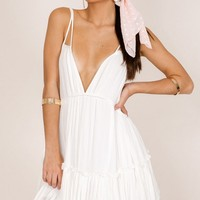 The Way You Are Tunic Dress in white Produced By SHOWPO