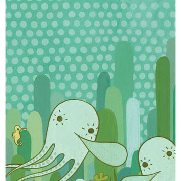 Undersea Octopus Art Print (No.2)