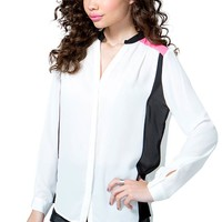 Chandler Colorblock Blouse