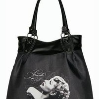 """NEW I LOVE LUCY BAG LARGE BLACK PURSE 19"""""""