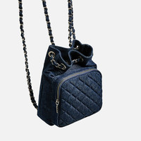 QUILTED MINI BACKPACK DETAILS