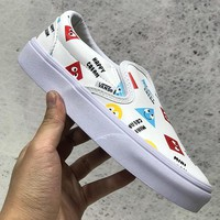 Trendsetter Vans Slip-On Canvas Old Skool Print Flats Shoes Sneakers Sport Shoes