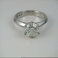 1.20ct GIA  G-SI1 Round Diamond Engagement Ring 18kt White Gold JEWELFORME BLUE GIA CERTIFIED