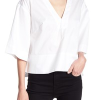 Kendall & Kylie | Lace-Up Back Boxy Blouse | Nordstrom Rack