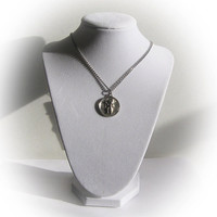 """Sterling Silver St. Christopher bearing the Christ Child Medallion with 24"""" chain"""
