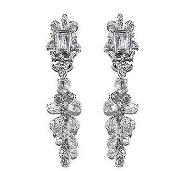 Axelle Raditant Ribbon Chandelier Earrings | 83mm