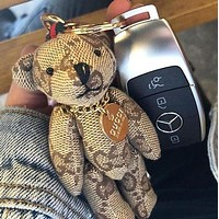 GUCCI Popular Cute Cartoon Bear Bag Hanging Drop Car Key Chain Bag Accessories