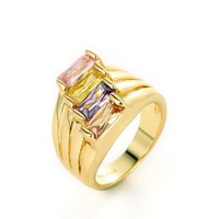 MLOVES Women's Classical Yellow Gold Simple Designed Ring