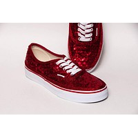Red Starlight Sequin Authentic Sneakers