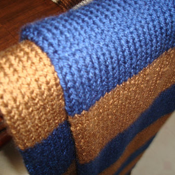 Harry Potter Ravenclaw Movie-Replica Scarf. Book colors (Blue & Bronze) *MADE TO ORDER*