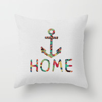 you make me home Throw Pillow by Bianca Green