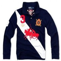 Beauty Ticks Ralph Lauren Men Long Sleeve Polo Mrllp041