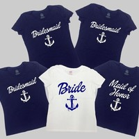 Nautical Bachelorette Party Shirts Nautical Bride And Bridesmaids Shirts Bridal Party Gifts Bachelorette Cruise Shirts Ladies -SA308-679-680