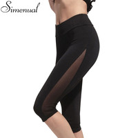 Hot Sale 2017 ZANZEA Women Leggings Summer Casual Mesh Patchwork Fitness Elastic Waist Plus Size Insert Pants Trousers