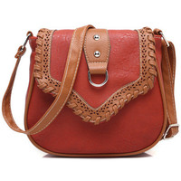 Red Vintage Cutout Bag