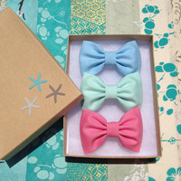 Pastel green and blue with bubble gum pink by theSeasideSparrow