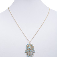 Beaded Karma Hand Necklace   Wet Seal