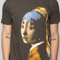 Girl With The Pearl Earring Double Eyes Tee- Charcoal L