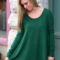 Home for Christmas Knit Sweater {Green}
