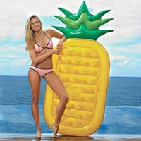180CM Pineapple Pool Swim Floats Rafts Bed Air Mattress Inflatable Pool Buoy Summer Swimming Water Boat Kickboard Beach Mat