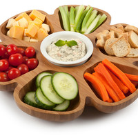 One Kings Lane - The Natural Look - Platter w/ Lazy Susan Bottom