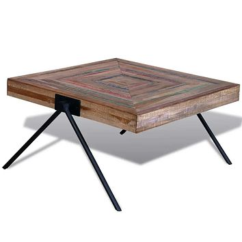 Coffee Table with V-shaped Legs Reclaimed Teak Wood