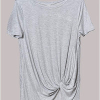 Heather Grey Get Knotty T Shirt