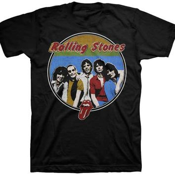 THE ROLLING STONES - 78 BAND RESPECTABLE BOOTLEG MENS TEE