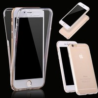 360 Tpu Silicone Transparent Protective Clear Case Cover For Iphone 5 / 5s / 6 / 6s / 6p / 6s Plus /samsung Galaxy S6 / S6 Edge / S6 Edge Plus / S7 / S7 Edge / Note 5