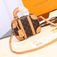 Kuyou Lv Louis Vuitton Fashion Women Men Gb2964 M44582 Mini Luggage Handbag 20x 16x 7cm