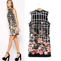 Stylish Sleeveless Print Slim Women's Fashion One Piece Dress [5013252164]