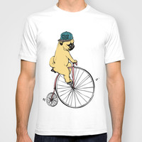 Pug Ride T-shirt by Huebucket